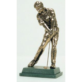 "Golf trophy award of golfer driving - 11""/28cm S72"
