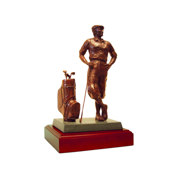 "Golf trophy of Payne Stewart  memorial trophy for tournament and seniors events - 15""/38cm- S73PT"