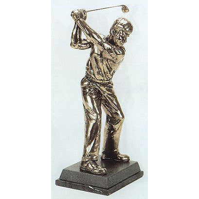"Golf trophy award of golfer's back swing position- 13""/33.5cm S75"