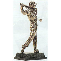 "Golf trophy of Golfer at the end of a perfect drive shot - 11""/28cm S76"
