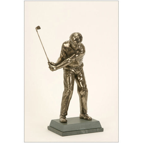 "Golf trophy of golfer preparing for chip shot - 11""/28cm S94"