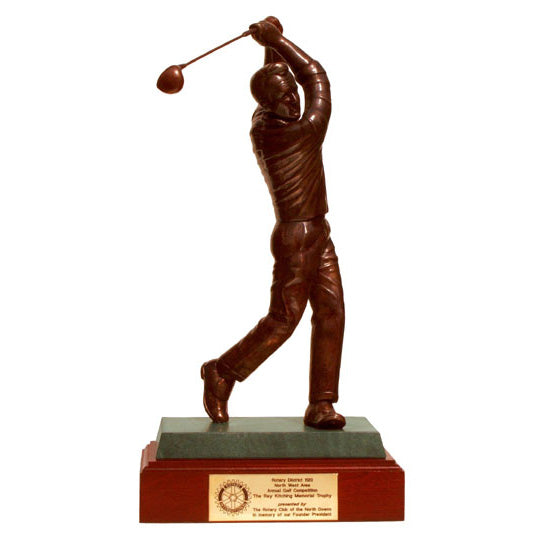 "Golf trophy portrait of Arnold Palmer award  - 15""/38cm S95PT"