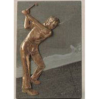 "Golf Prize Plaque - 6x4""/15.5x10cm SC15A"