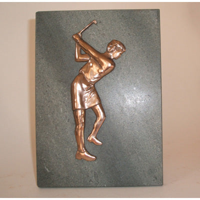 "Lady Golf Prize Plaque - 7x5""/18x13cm  SC16B"