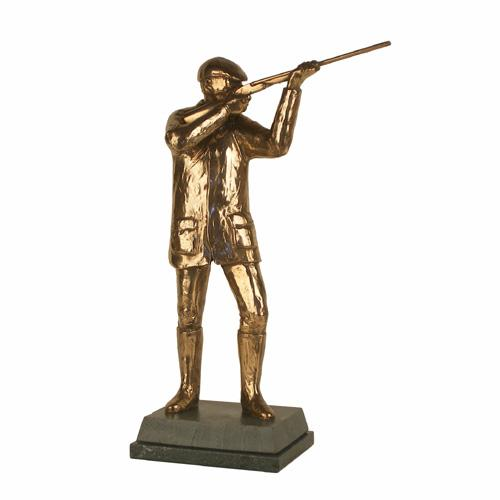 Man Shooting trophy. A highest quality handmade bronze award-S18