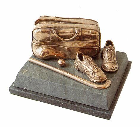 Hockey Trophy of  stick, boots, ball and bag . A high quality award for your hockey tournament-SC19