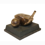 Golf Trophy of Driver Club Head & Ball SC69