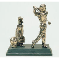 "Golf Trophy of Golfer Golf Bags and Balls 8.5""/22cm - Tab 1"