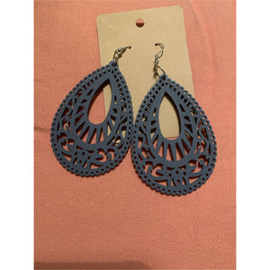 Oval Designs Wooden Earrings
