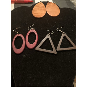 Assorted Shapes Wood Earrings