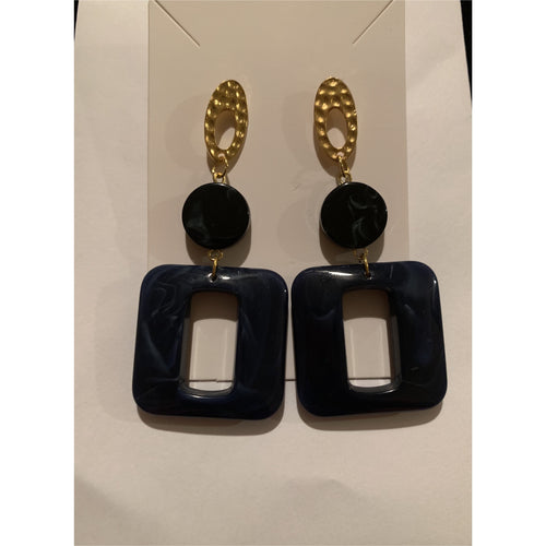 Better In Navy Earrings