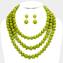 Load image into Gallery viewer, Triple Strands Beaded Necklace