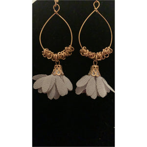 Grey Wire Earrings