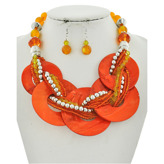 Orange Crush Necklace Set