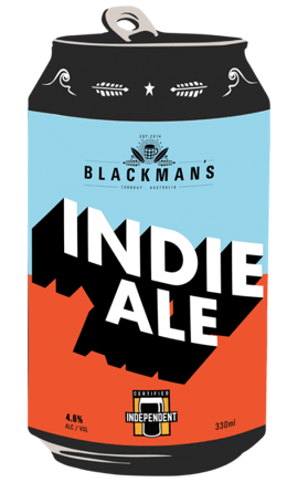Blackman's Brewery Indie Ale 330mL