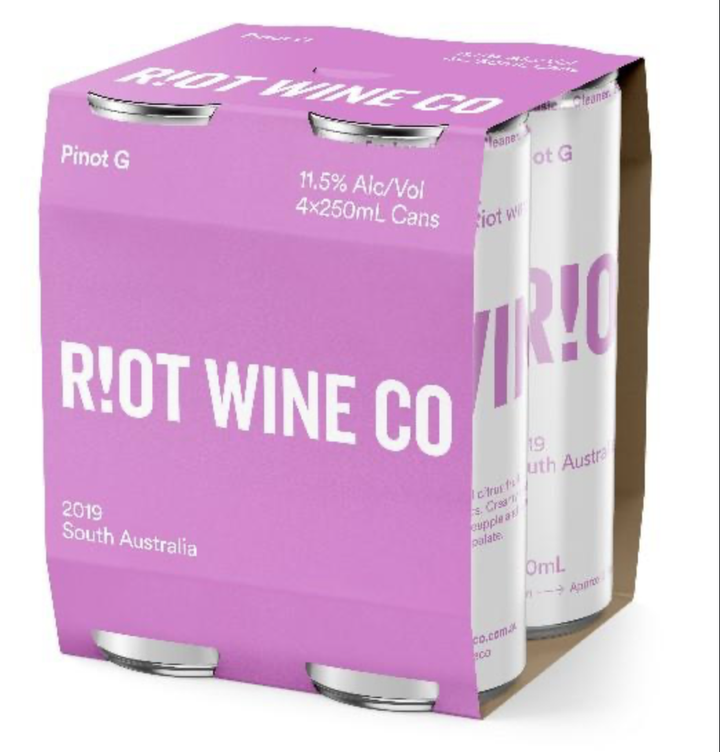 Riot Wine Co Pinot G 250ml Can 4 Pack - Hop Vine & Still