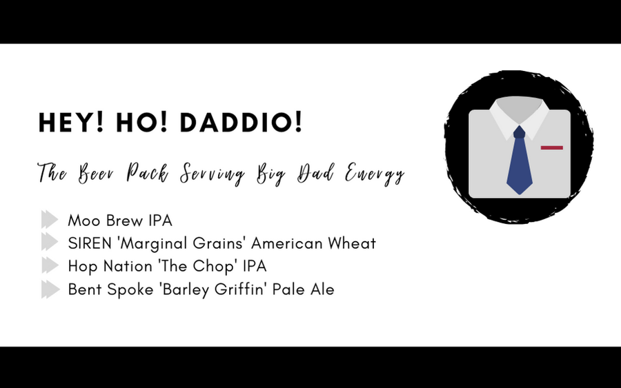 Hey! Ho! DaDDIO! Father's Day Beer Pack
