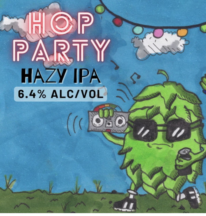 Welcome Swallow Hop Party Hazy IPA 375ml - Hop Vine & Still
