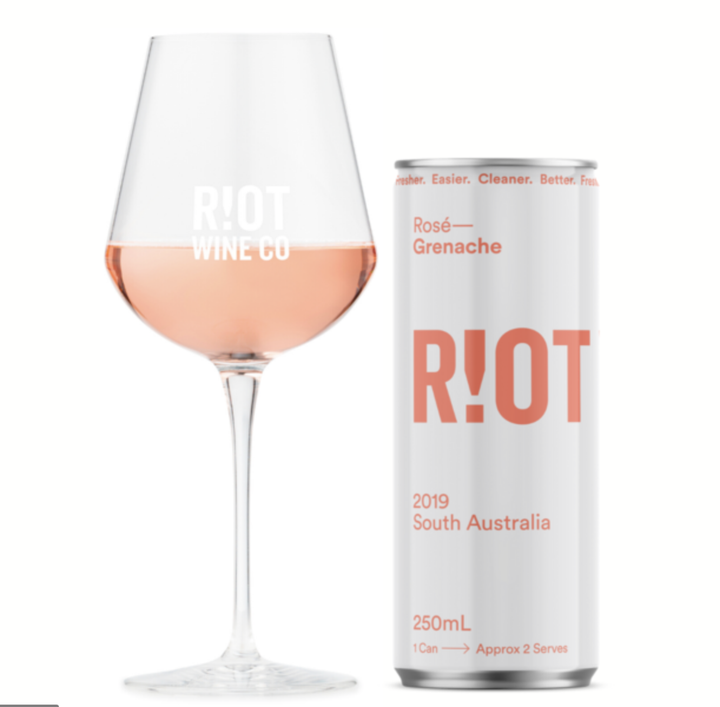 Riot Wine Co Grenache Rose 250ml Can - Hop Vine & Still