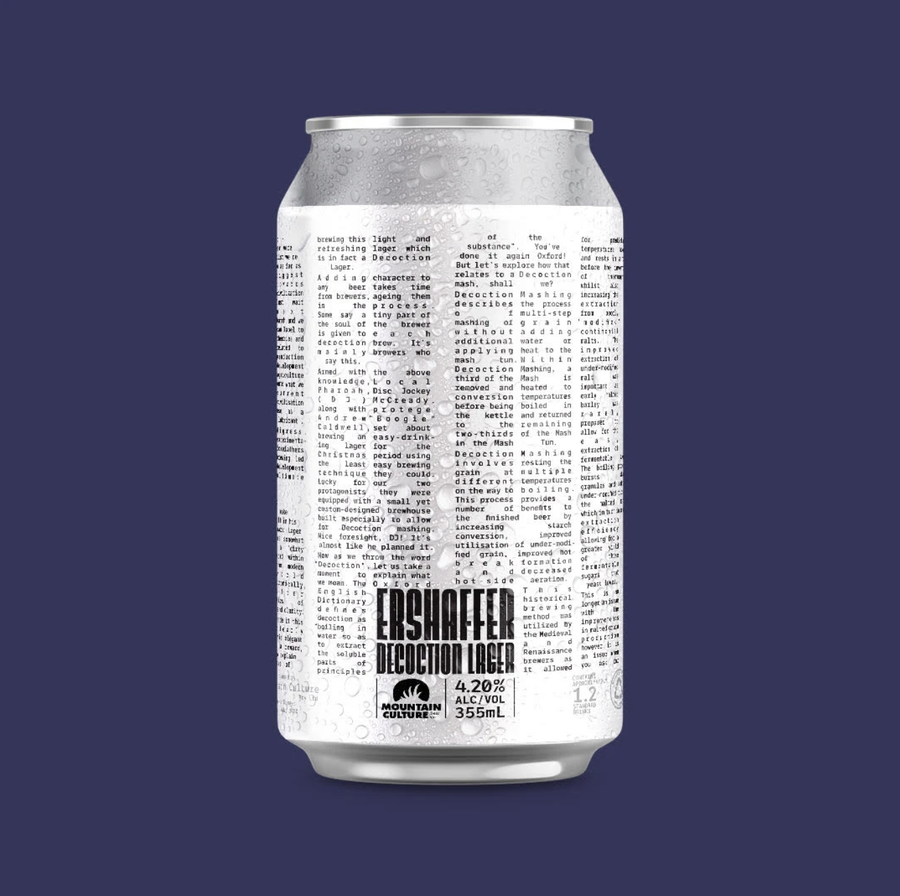 Mountain Culture Ershaffer Decoction Lager 355ml - Hop Vine & Still