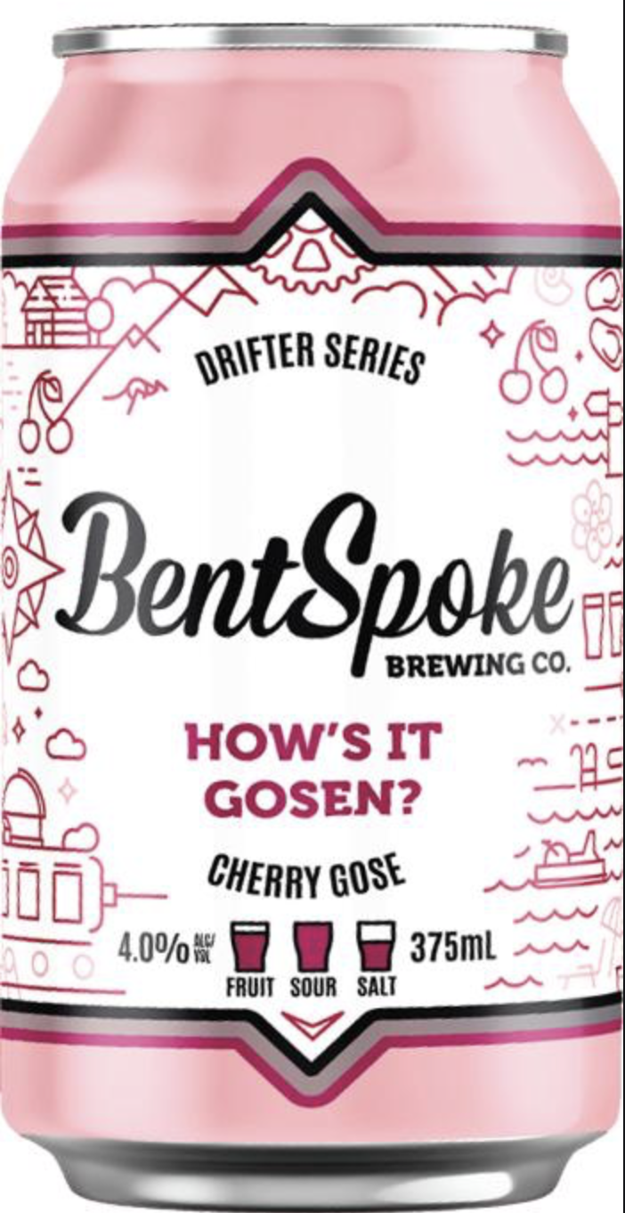 Bentspoke How's it Gosen? Cherry Gose 375ml - Hop Vine & Still