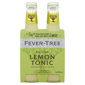 Fever-Tree Sicilian Lemon Tonic Water 4 x 200ml