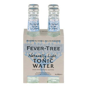 Fever-Tree naturally Light Tonic Water 4 x 200ml - Hop Vine & Still