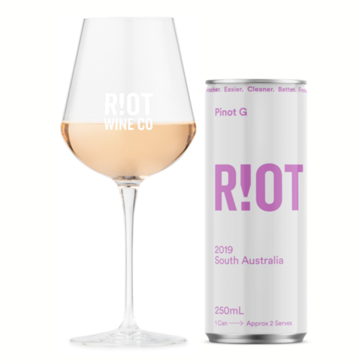 Riot Wine Co Pinot G 250ml Can - Hop Vine & Still