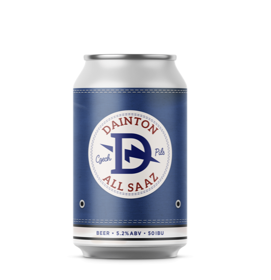 Dainton All Saaz Czech Pils 355ml - Hop Vine & Still