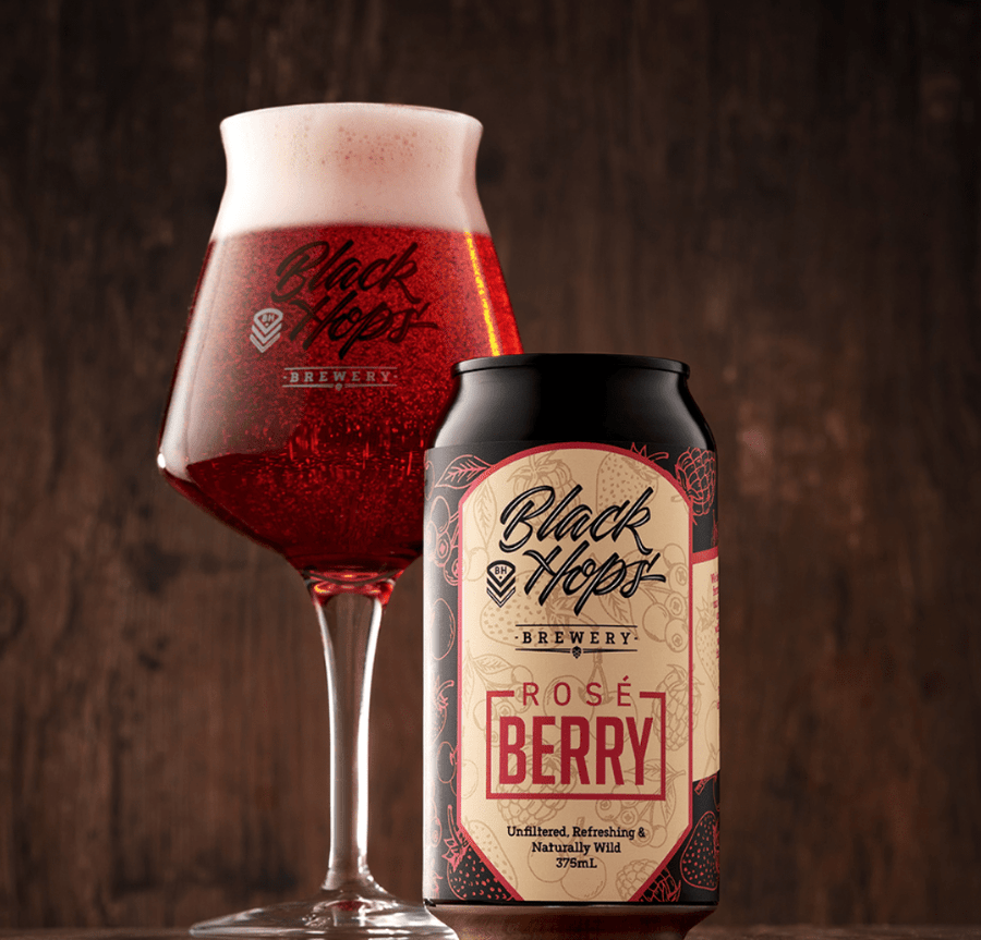 Black Hops Brewery RoséBerry Kettle Sour 375mL