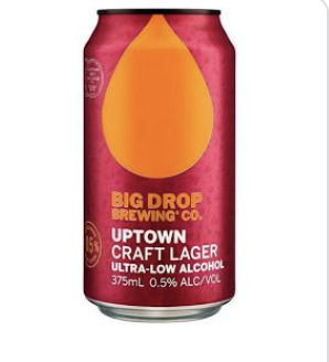 Big Drop Pine Uptown Lager 0.5% 375ml - Hop Vine & Still