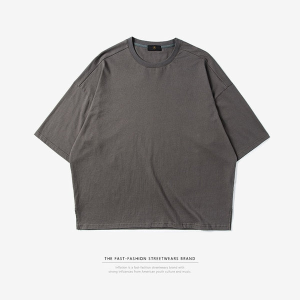INFLATION's Elbow-length Crew Neck T-Shirt