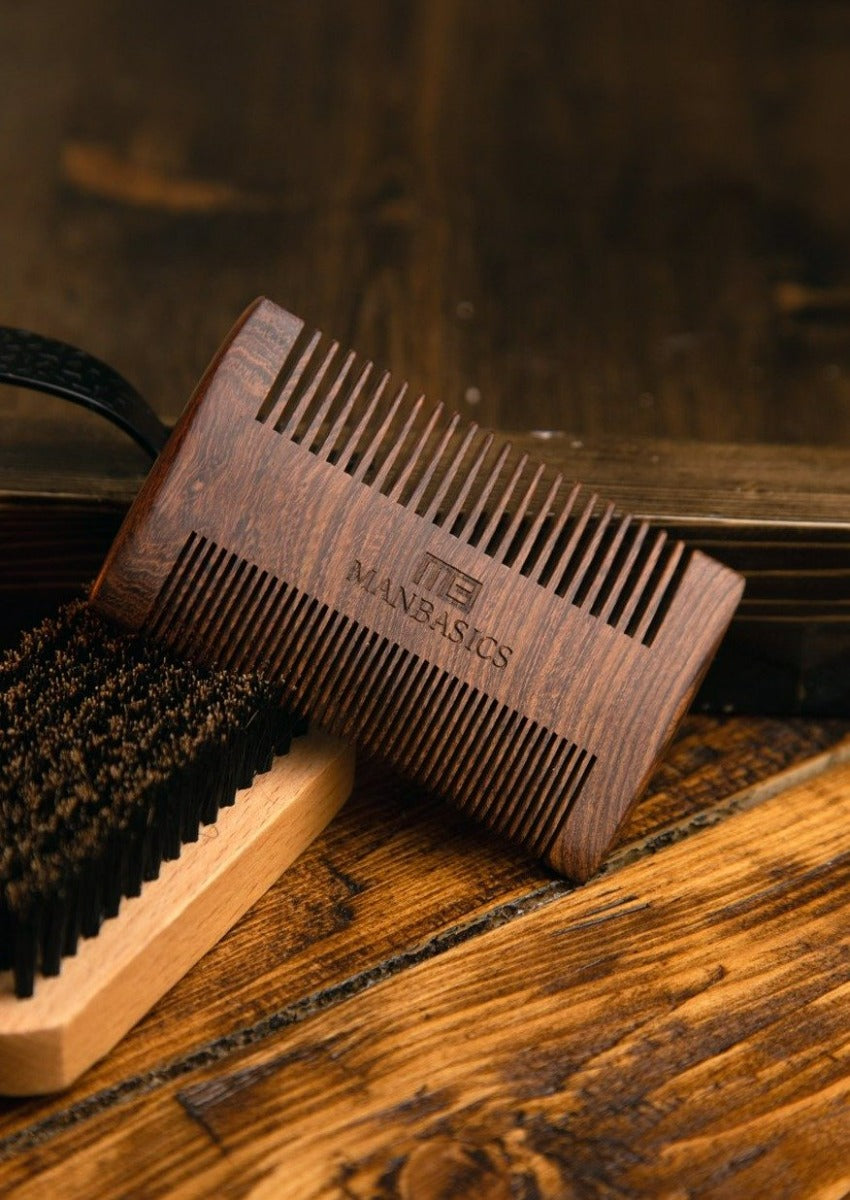 ManBasics Beard Comb and Brush Kit