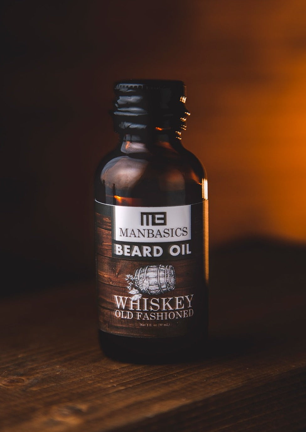 Whiskey Old Fashioned All Natural Beard Oil from ManBasics.