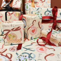 Festive Christmas Baubles Eco-friendly Wrapping Paper