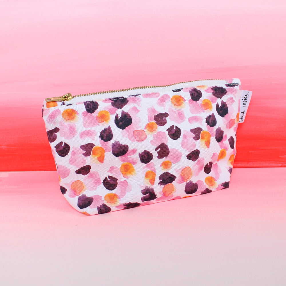 Painterly Petals Makeup Bag