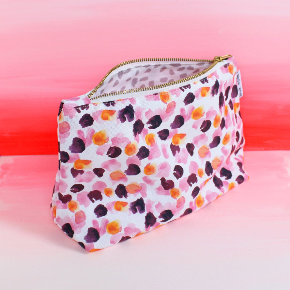 Painterly Petals Wash Bag