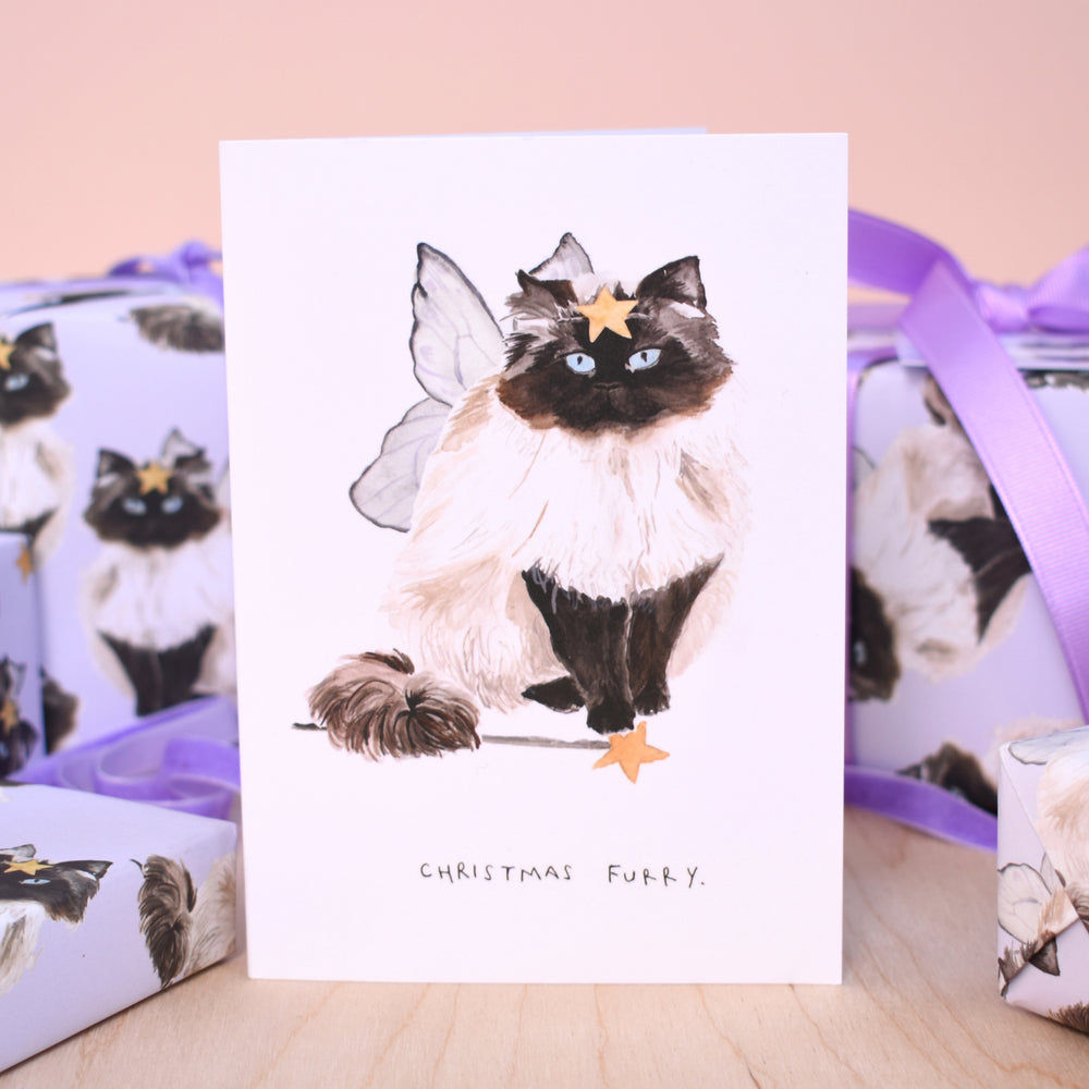 Fairy Cat Eco-Friendly Recycled Wrapping Paper