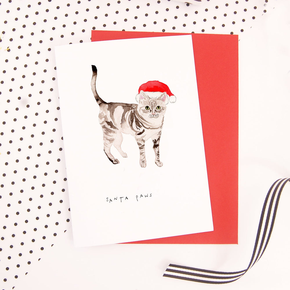 Santa Paws Christmas Card