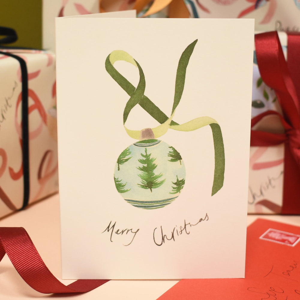 Tree Bauble Eco-Friendly Christmas Card