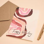 Painterly Happy Birthday Greeting Card