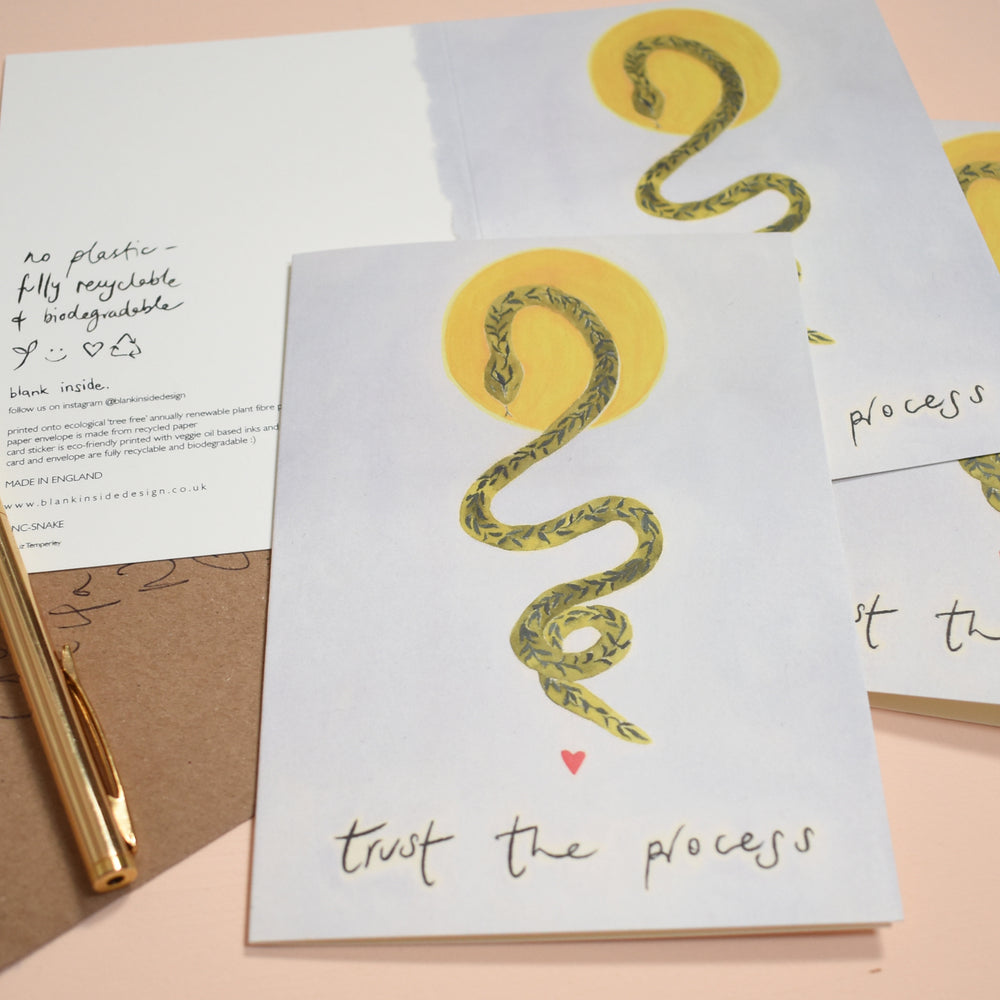 Trust the Process Snake Ecological Greeting Card