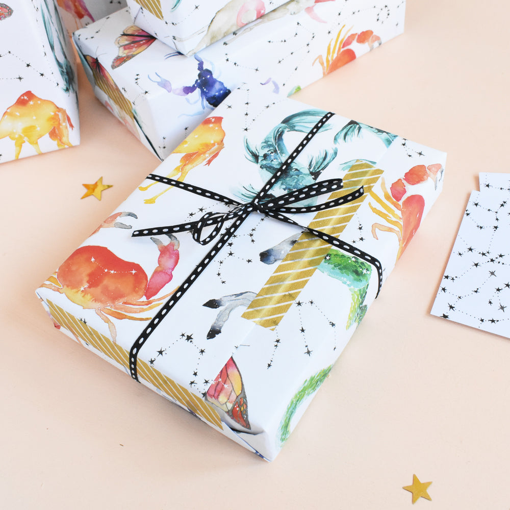Zodiac Recycled Wrapping Paper