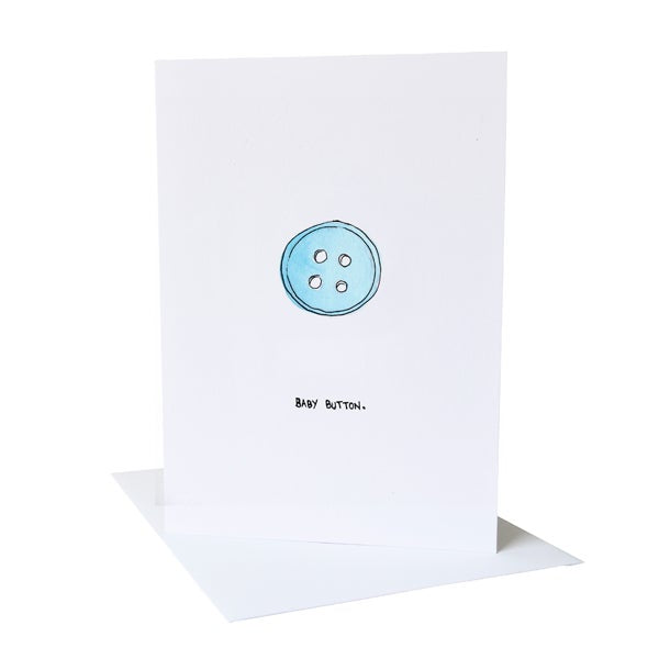 Baby Button Greetings Card
