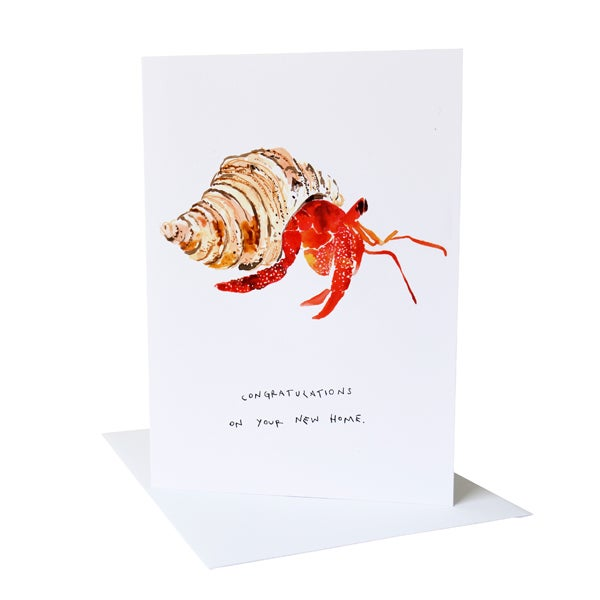 """Congratulations on your new home"" Greetings Card"