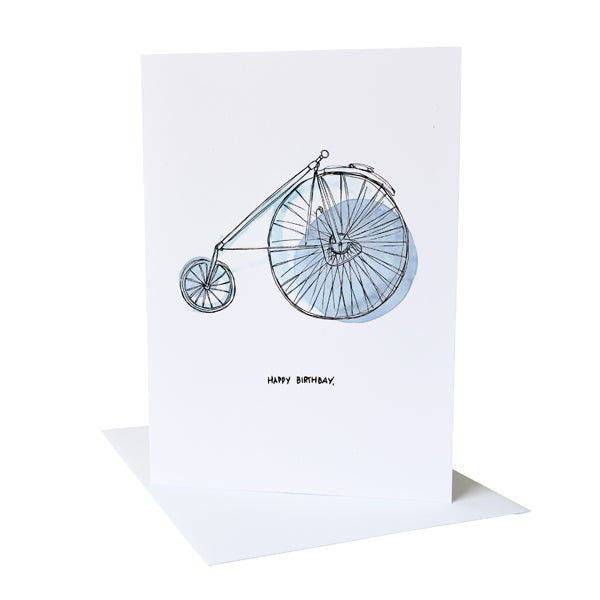 Happy birthday bicycle greetings card