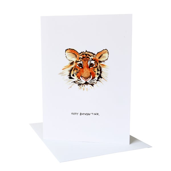 Happy Birthday Tiger Greetings Card