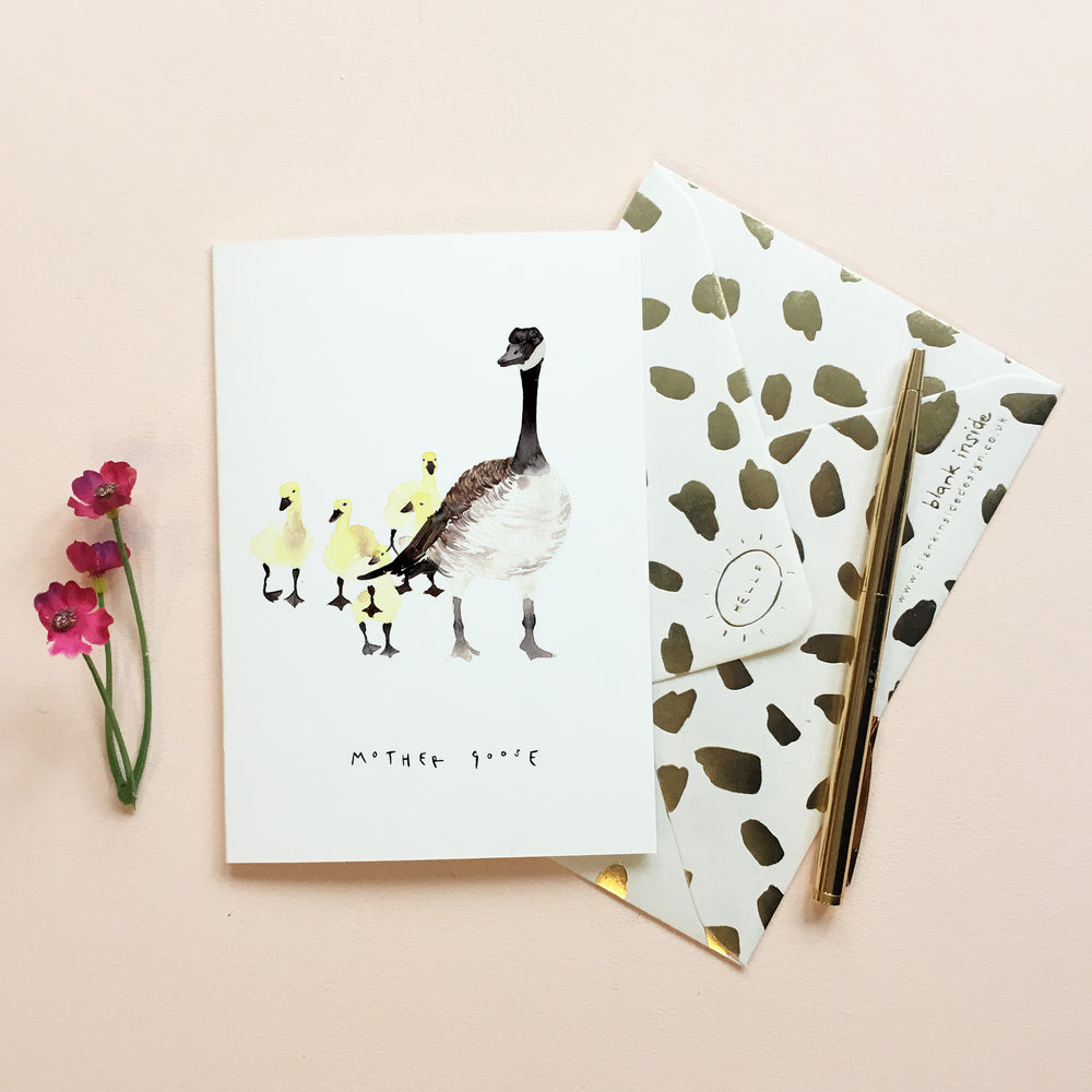 Mother Goose Mother's Day Card