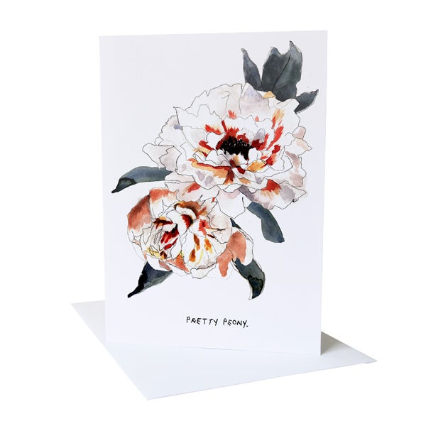 Pretty Peony Greetings Card