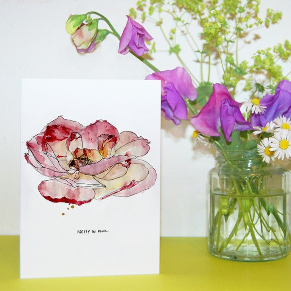 Pretty in Pink Greetings Card